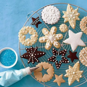 Simple Christmas cookies decorations