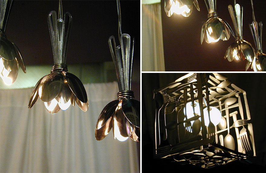 Diy light fixtures ideas from recycled materials making light fixtures
