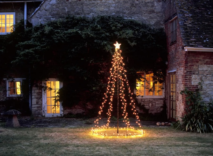 20 diy outdoor christmas decorations ideas 2014 for Simple outside christmas lights ideas