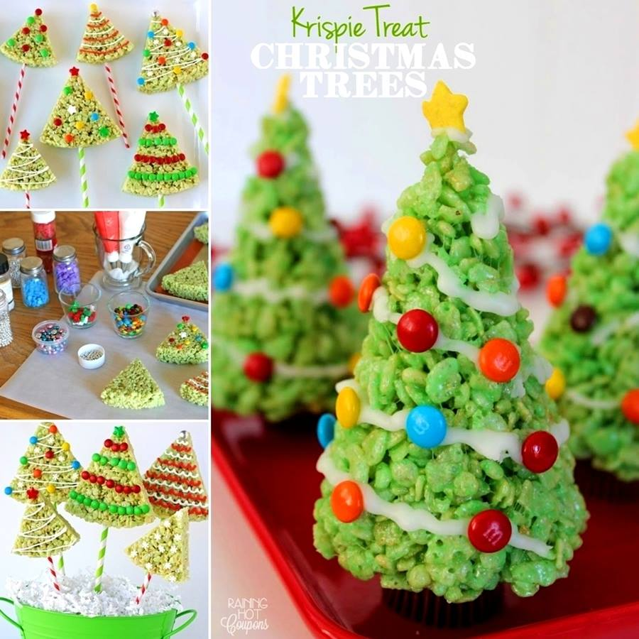 Different types of christmas trees pictures - Rice Krispies Christmas Trees