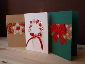 DIY Holiday cards with ribbons