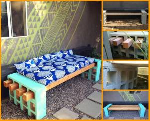 DIY cinder bars patio furniture