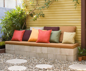 DIY concrete patio furniture