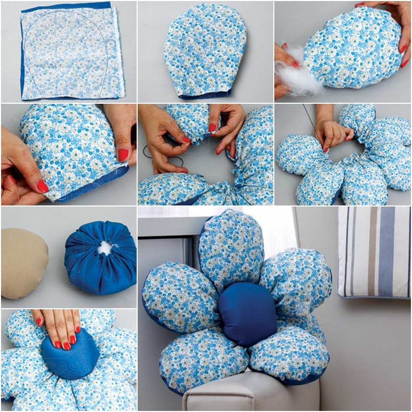 Diy patio chair cushions designs and ideas for Flower making at home