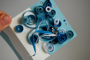 DIY paper quilled birthday cards