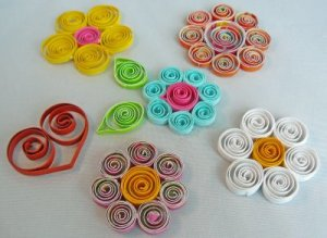 DIY paper quilling birthday cards