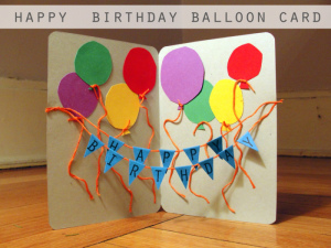 DIY popup birthday cards