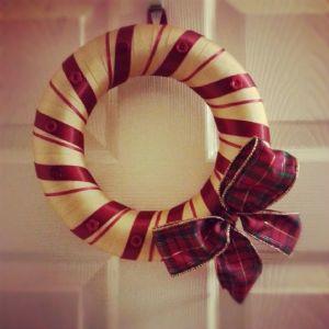 DIY ribbon Christmas wreaths