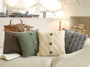 DIY upcycled chair cushions