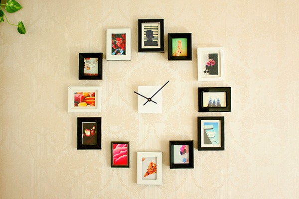 Easy diy bedroom decor ideas on budget - Reloj decorativo de pared ...