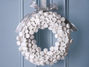 Edible Christmas wreaths DIY
