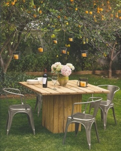 Homemade DIY outdoor furniture