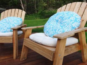 Outdoor chaor cushions DIY