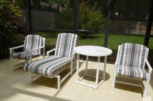 Modern diy patio furniture ideas Pvc pipe outdoor furniture