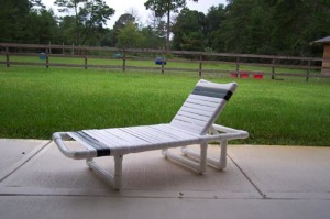 Patio furniture with PVC