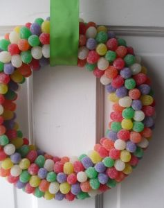 Wreaths from edible things