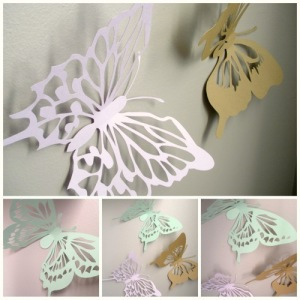 3D wall art decor with paper