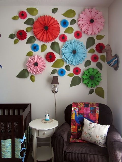 Flower wall decor diy images for Drawing decoration ideas