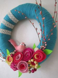 Cute spring wreath Ideas