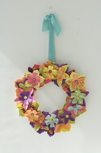 Cute paper wreaths for spring