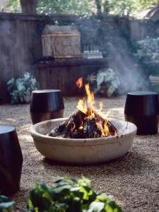 DIY bowl fireplaces