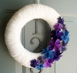 DIY felt spring wreath Ideas