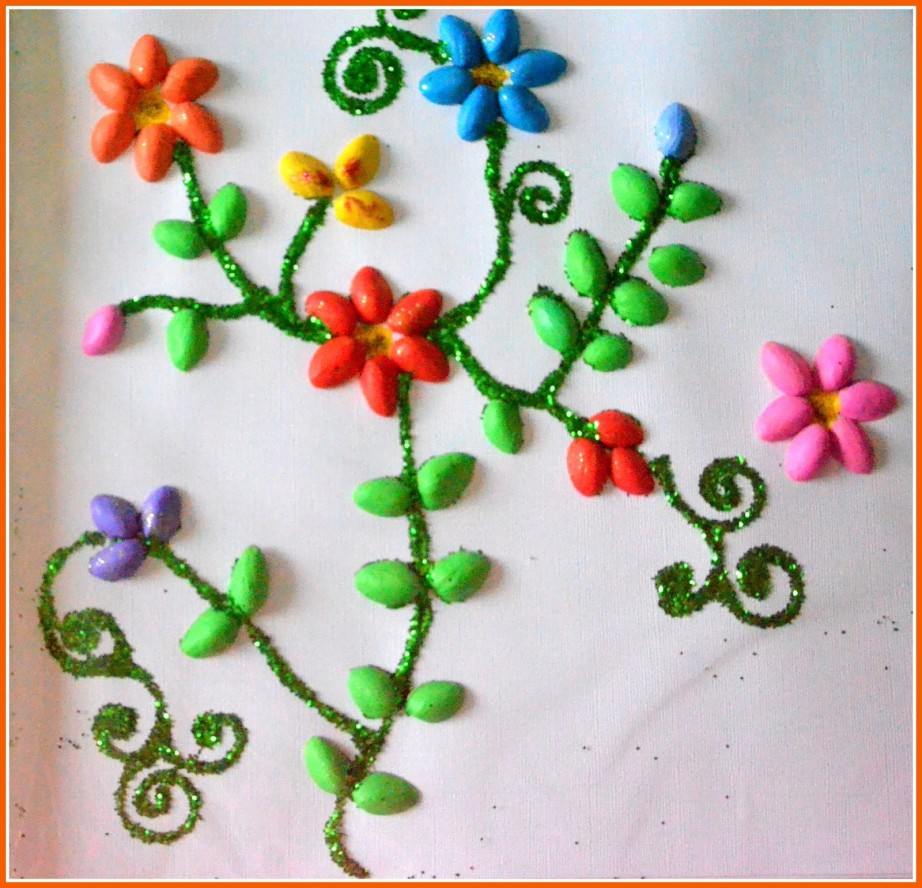 Diy wall art decor ideas 2015 for Decorative flowers for crafts