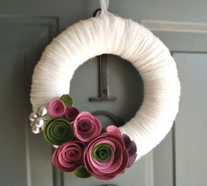 DIY spring wreaths with felt