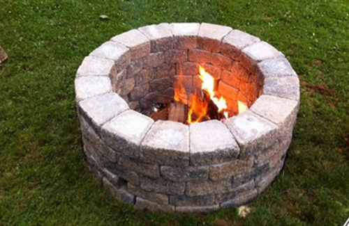 DIY Outdoor Fireplace for Back Yard on Diy Outside Fireplace id=89650