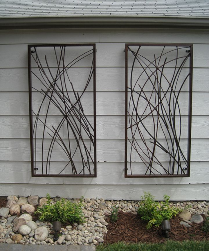 Diy metal wall sculpture designs for Outdoor garden wall decor