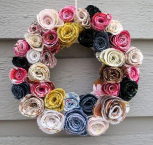 Spring wreaths with roses