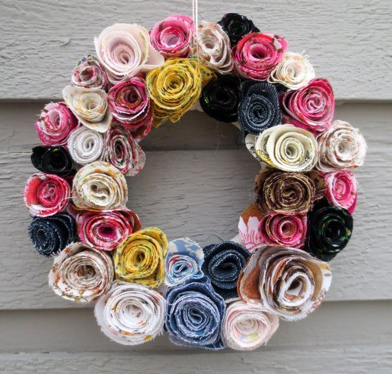 Spring wreaths with roses. Easy spring wreaths tutorials