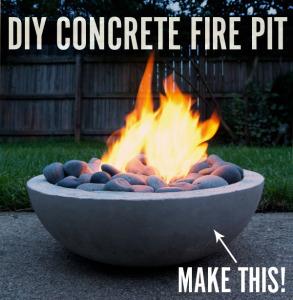 DIY fir pits for back yard