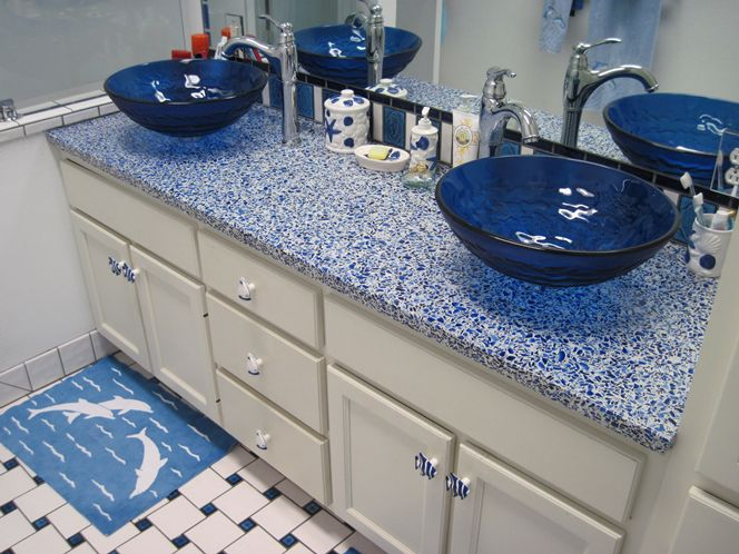 Diy bathroom vanity ideas for bathroom remodeling for Recycled bathroom sinks