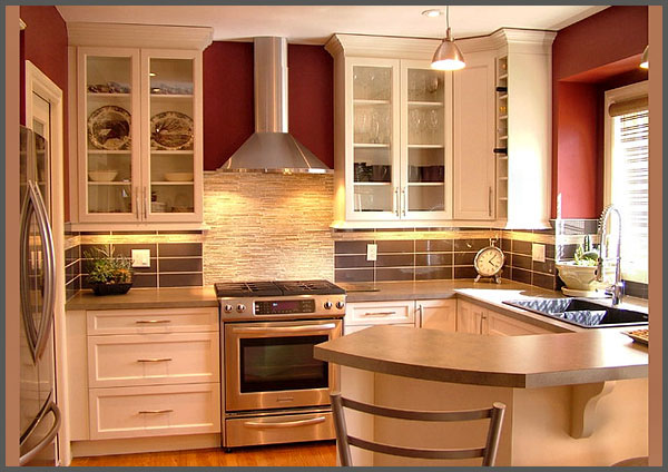 Kitchen design i shape india for small space layout white for Small kitchen ideas pictures
