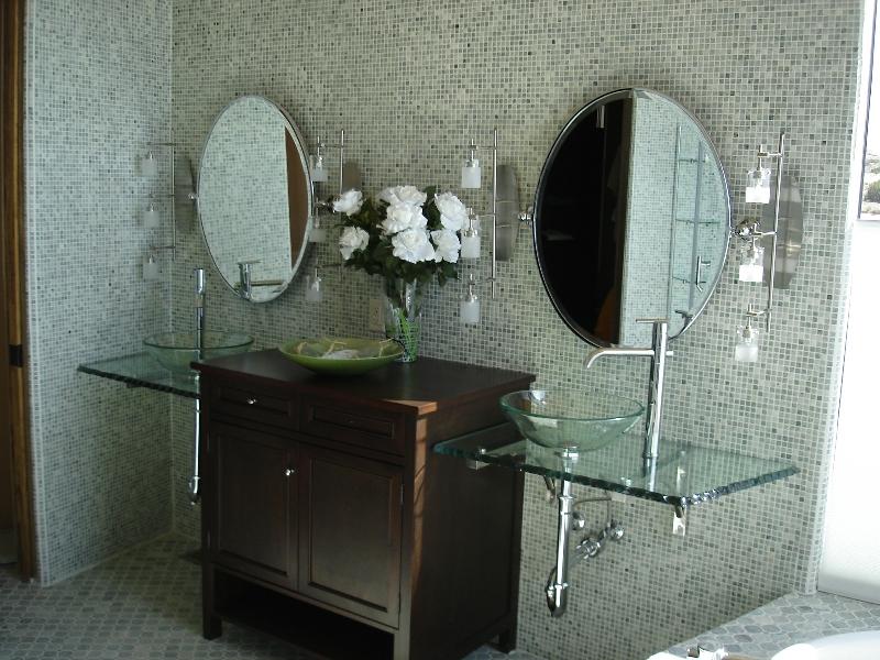 DIY glass bathroom vanity. DIY Bathroom Vanity Ideas for Bathroom Remodeling