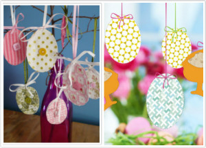 Hanging DIY Easter ornaments