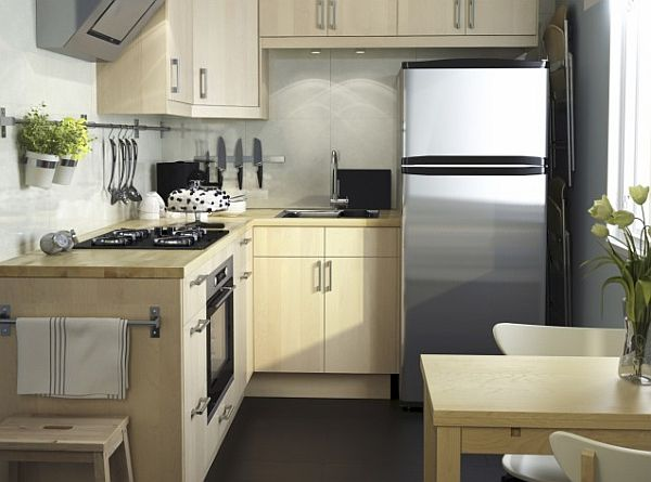 Modern L Shaped Tiny Kitchen Design