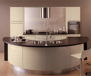 Modern open small kitchen design