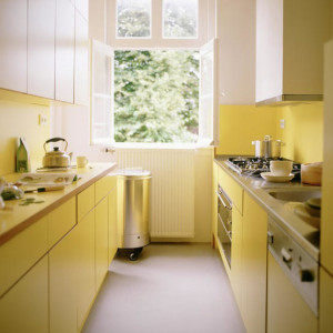Small kitchen design in U shape