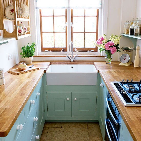 U Shaped Tiny Kitchen Design