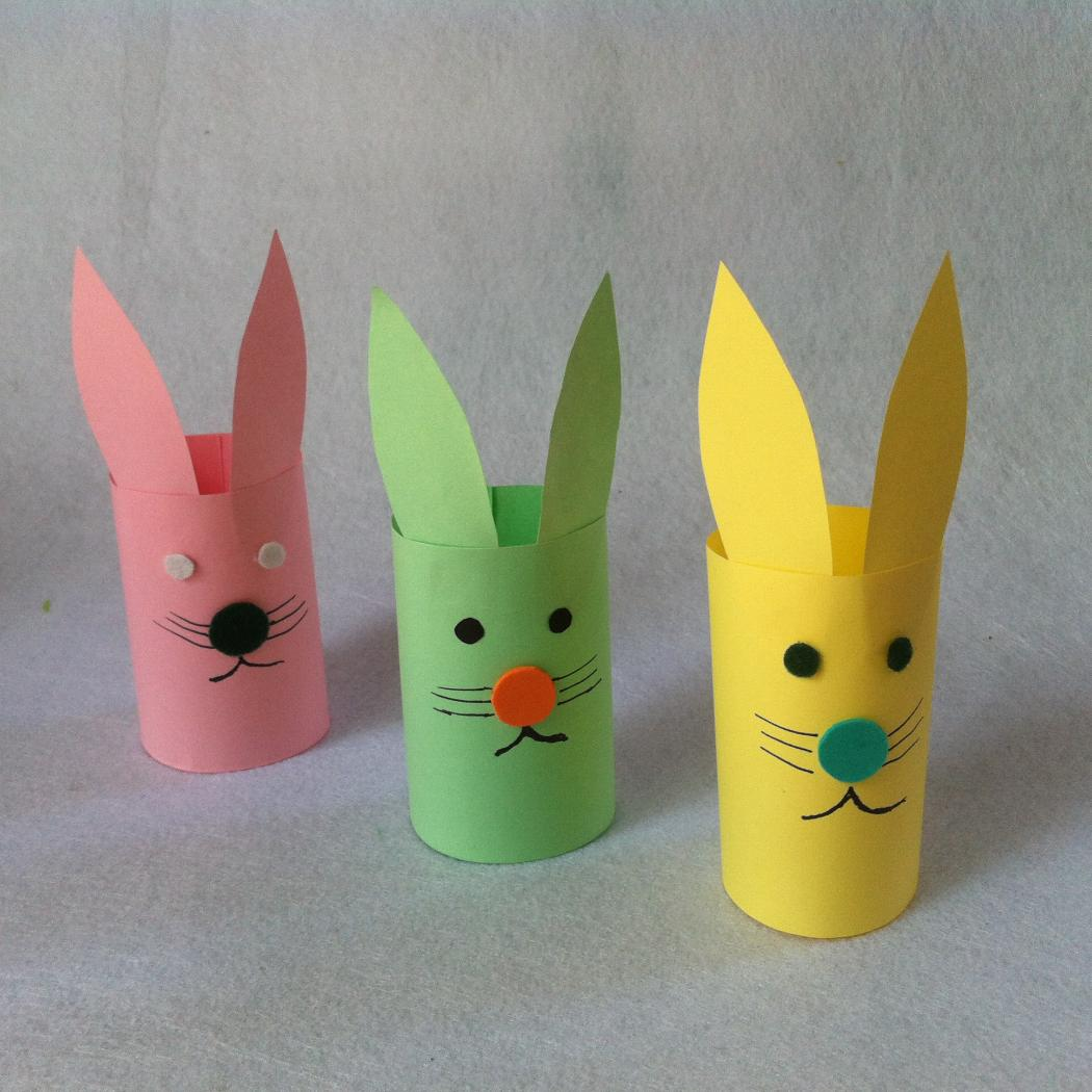your toddlers could up use old wooden spoons for making bunny crafts