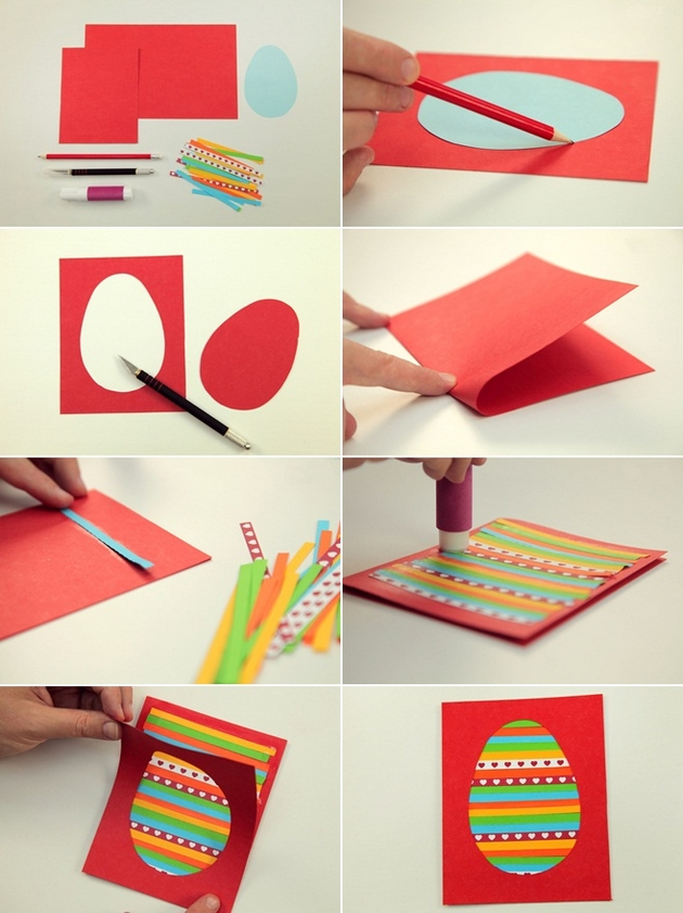 Diy easter card ideas to make at home for How to make easy crafts step by step
