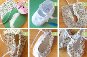 DIY baby shoes tutorial step by step