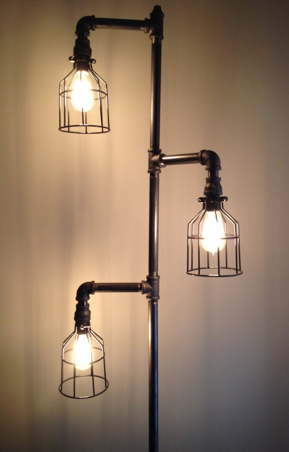 Inexpensive diy floor lamp ideas to make at home for How to make an industrial lamp