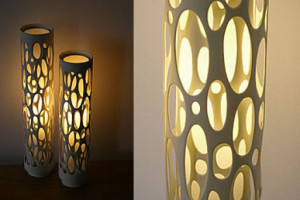 PVC DIY floor lamp designs