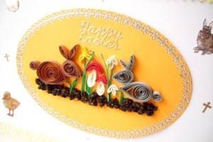 Paper quilled Easter card ideas