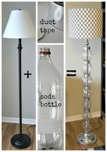 Recycled DIY floor lamp