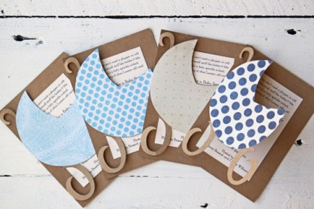 Handmade DIY baby shower invitations