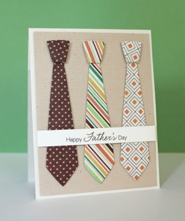 DIY Tie Cards for father's day